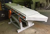 Многочастотный вибрационный грохот с системой самоочистки плит