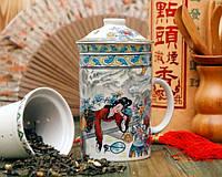 Чашка из ситечком и крышкой Мелодия чаепития