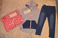 Комплект для девочек с джинсовыми легинсами Grace,98-128 cм