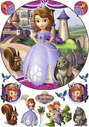 Вафельная картинка для торта Софийка (лист А4)