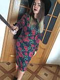 Платье футляр карандаш ангора софт цветочный принт, фото 6