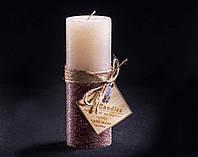 Свеча двухцветная Ванильно-шоколадная круглая