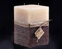 Свеча двухцветная Ванильно-шоколадная Два фитиля
