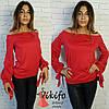 Женская кофточка с оригинальными рукавами, 3 цвета, фото 2