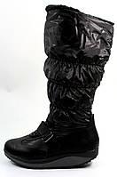 Сапоги женские дутики черные С404