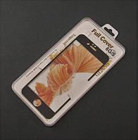 Стекло защитное 3D для Apple iPhone 6 6s  черная рамка