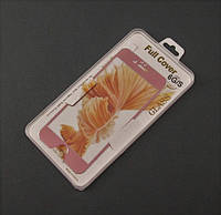 Стекло защитное 3D для Apple iPhone 6 6s розовая рамка