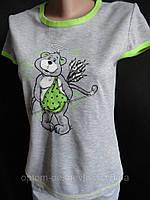 Женские пижамки с бриджами и рисунком, фото 1