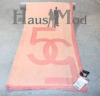 Женский брендовый палантин  Chanel 11053 Бледно-розовый