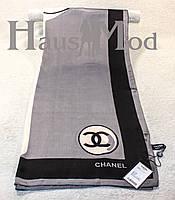 Женский брендовый палантин Chanel 11053 Серый