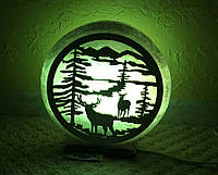Соляная лампа Природа