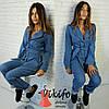 Женский джинсовый костюм, 2 цвета, фото 2