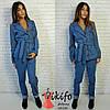 Женский джинсовый костюм, 2 цвета, фото 3