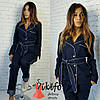 Женский джинсовый костюм, 2 цвета, фото 4