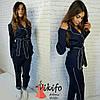 Женский джинсовый костюм, 2 цвета, фото 5