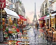 Картина раскраска по номерам Париж 50х40см Без подрамника