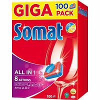 Таблетки для посудомоечных машин Somat Все в 1 100 шт.