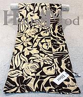 Женский брендовый палантин Dior 11053 Пудровый