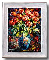 """Репродукция  современной картины """"Букет красных роз"""" 32 х 42 см"""