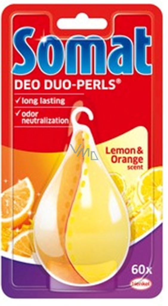 Ароматизатор для посудомоечной машины Somat Deo Duo-Pearls Lemon & Orange - FineLife в Киеве