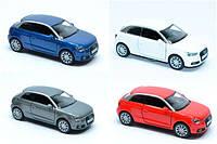 Машинка жел КТ 5350 W (96/4) инер-я, 1:32  2010 AUDI A1, открыв.двери, 4 цвета, в кор-ке