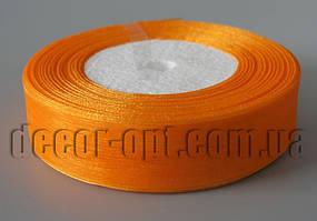 Лента органза оранжевая 2,5 см 50ярд
