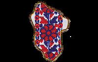 Набор для вышивки бисером магнит Карта Украины Луганская область