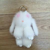 Натуральный мех норки брелок, милый кролик брелок, украшение сумки, подвеска на кошелек, авто