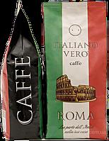 Кофе в зернах Италиано Веро Рома Italiano Vero Roma 1кг зерновой кава 50% Арабика 50% Робуста