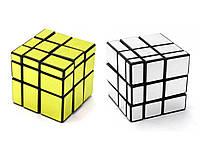 Кубик головоломка зеркальный (золотой, серебристый)