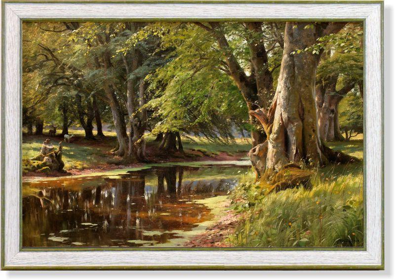 Репродукция картины Петера Мёнстеда «Лесной пейзаж» 32 х 48 см