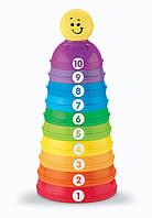 Fisher Price Пирамидка из формочек Маленький-большой W4472 Brilliant Basics Stack and Roll Cups