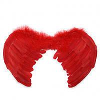 Крылья перьевые ангела красные 40х30