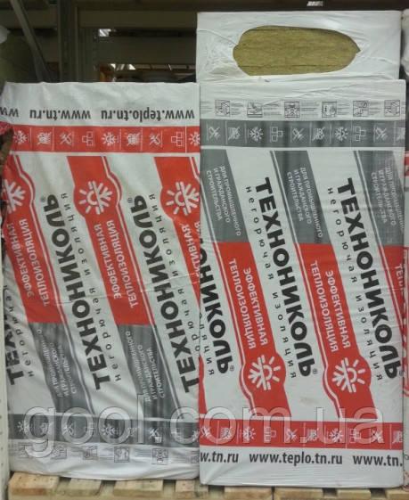 Вата базальтовая Технофас Технониколь 1200х600х50мм плотность 145 кг/м3