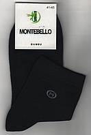 Носки мужские демисезонные бамбук Montebello, ароматизированные, 41-45 размер, средние, чёрные, 761