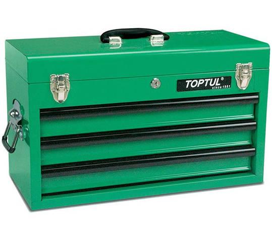Ящик для инструмента 3 секции 508x232x302мм TOPTUL TBAA0303, фото 2