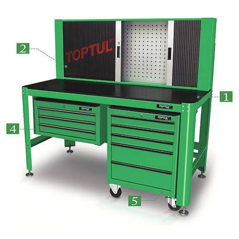 Ящик для инструмента 3 секции под верстак TOPTUL TBAA0304, фото 2