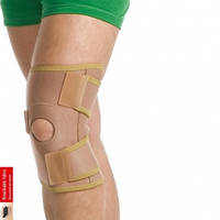 Бандаж на коленный сустав разъемный (Черный)