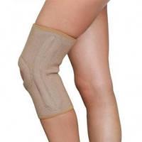 Бандаж на коленный сустав с ребрами жесткости (Черный)