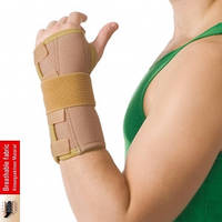 Бандаж на лучезапястный сустав с ребром жесткости (Черный)