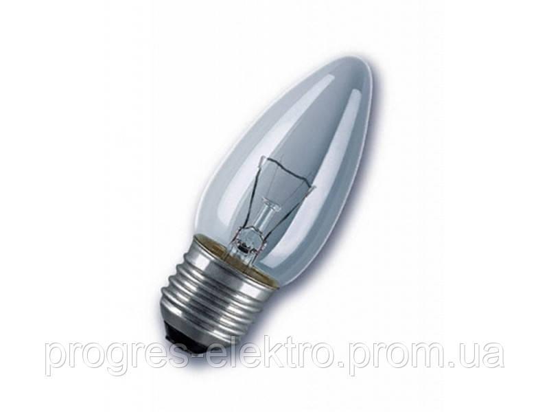 Лампа свеча 60Вт Е27 (прозрачная)