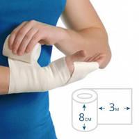 Бинт еластичний медичний ЕКОНОМ середньої розтяжності, 3 м х 8 см