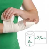 Бинт еластичний медичний MEDTEXTILE середньої розтяжності, 2,5 м х 8 см