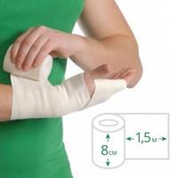 Бинт еластичний медичний MEDTEXTILE середньої розтяжності, 1,5 м х 8 см