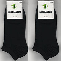 Носки мужские демисезонные бамбук Montebello, ароматизированные, 41-45 размер, короткие, чёрные, 764