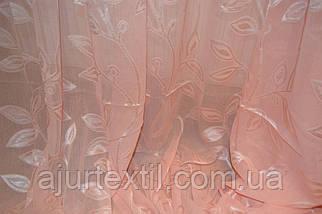 """Тюль лен с кристалоном персик """"Королевская"""", фото 3"""