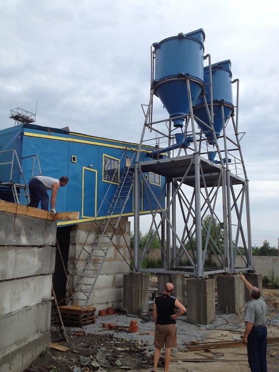 ПРБУ-200 (передвижной растворо бетонный завод) - изготовление и шеф-монтаж