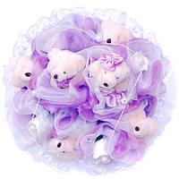 Букет из мягких игрушек Мишки 6 парочки