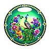 "Кухонная круглая доска ""Павлин в цветах: Зеленый фон"""