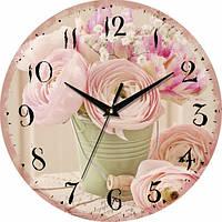 Настенные Часы Vintage Цветы в ведерке